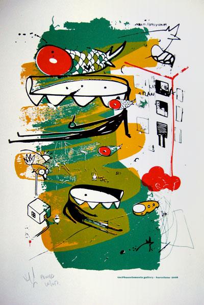 Tec serigrafia - Barcelona - 2008