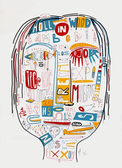 Tec serigrafia - Cierra los ojos - 2011