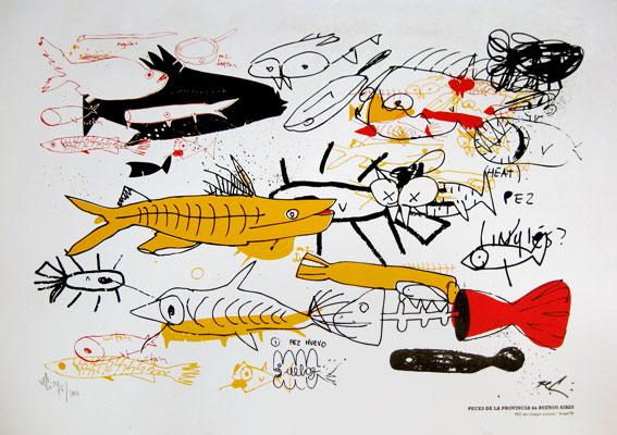 Tec serigrafia - Peces de Buenos Aires - 2009