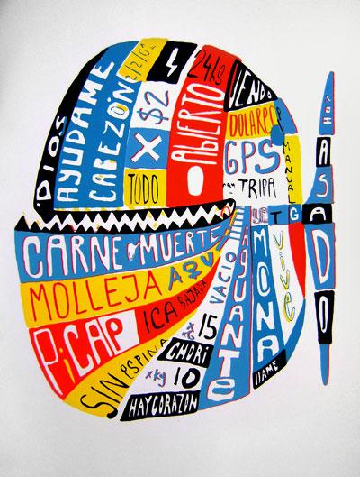 Tec serigrafia - Pez Tatoo - 2009